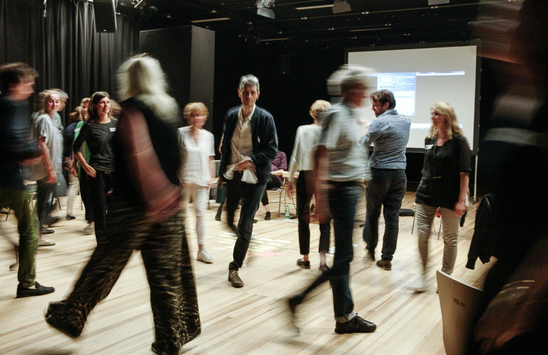 Workshop with ETC Members walking in the room